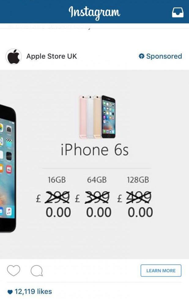 Counterfeit Apple Ad on Instagram Raises Concerns about Self-serve Platform