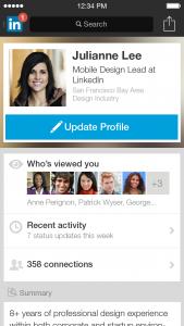 LinkedIn Mobile App iOS Profile Q1 2014