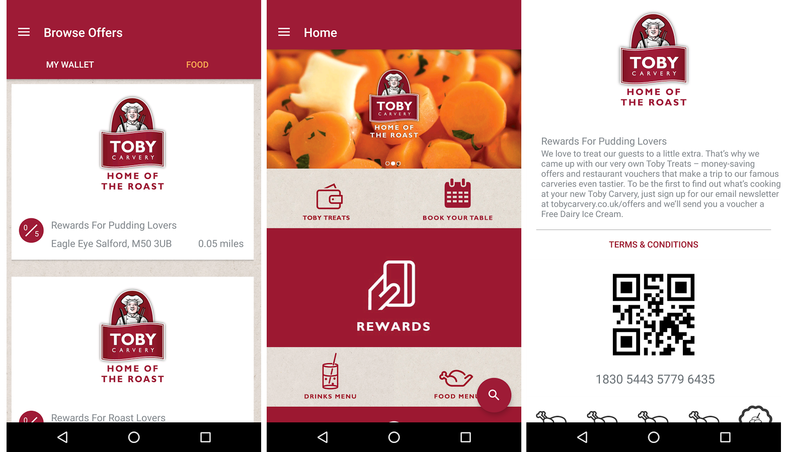 Toby Carvery Serves Up Multi-Rewards Digital Loyalty App