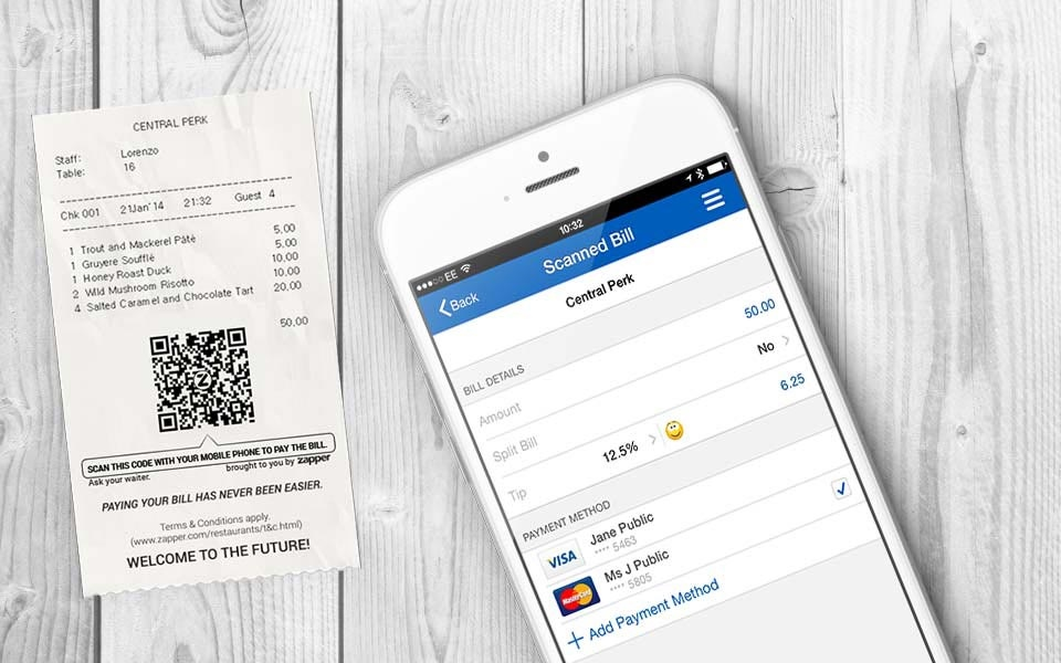 Zapper and PayPal Partner for One Touch Mobile Payment