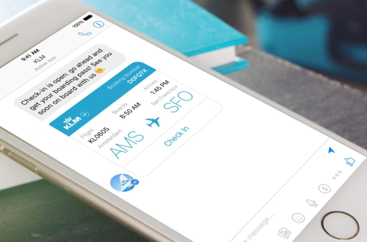 KLM Customer Service Lands in Facebook Messenger