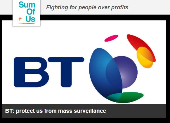 SumOfUs Calls on BT to Speak Out Against the Snoopers' Charter
