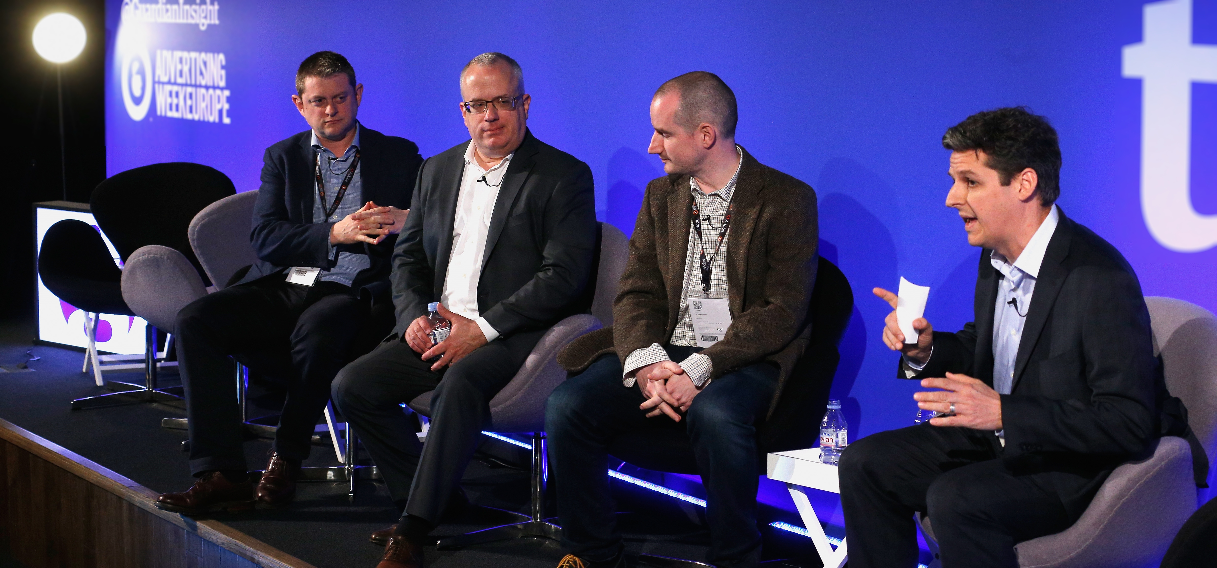 Brendan Eich and Johnny Ryan on the 'Putting the Consumer First in the Ad Block Debate' panel at Ad Week Europe
