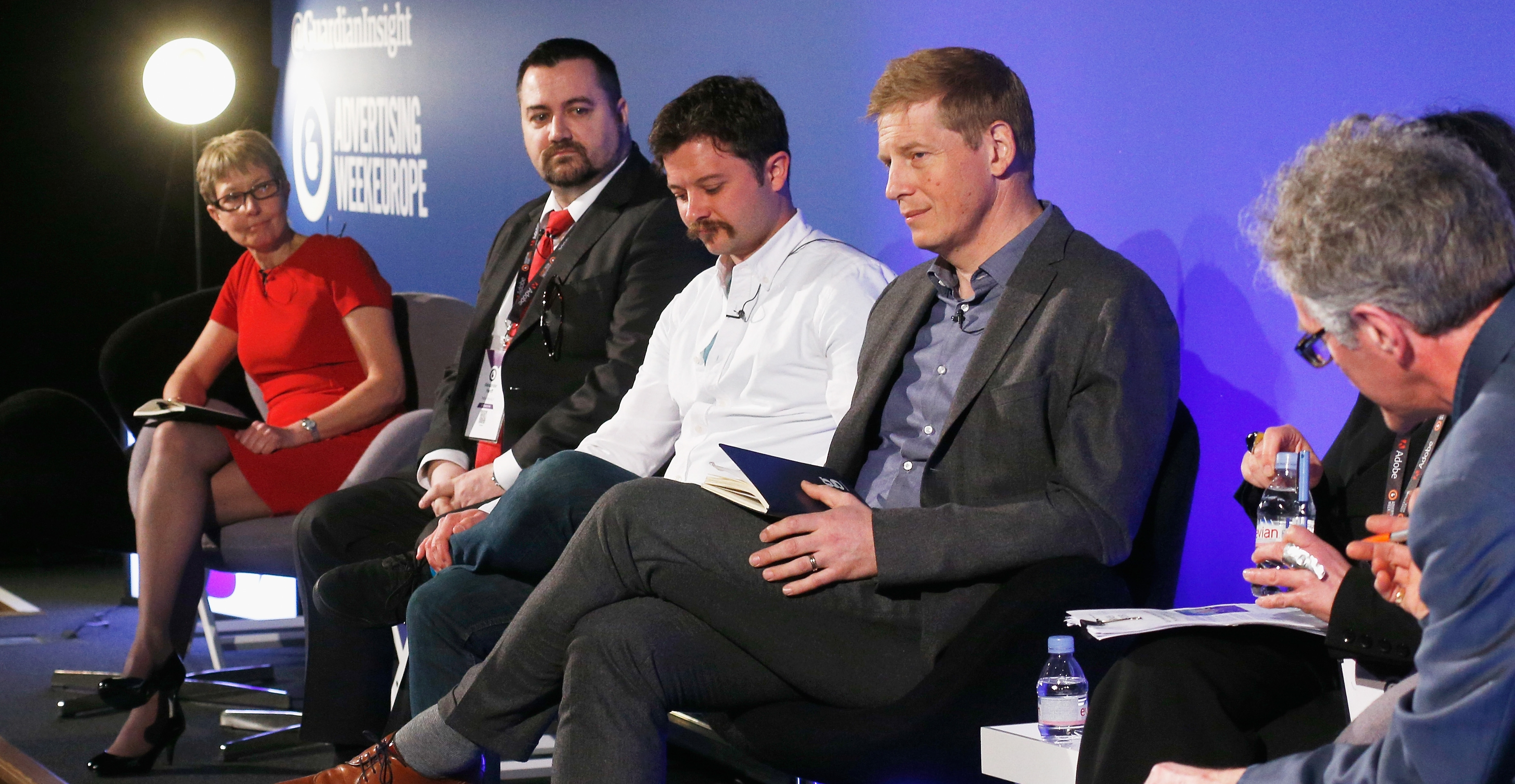 Tim Gentry, Ben Williams and Alexander Hanff on the 'Ad Blocking: A New Deal or a Modern Day Protection Racket?' panel at Ad Week Europe