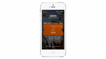 Fandango Mobile ticket Zootopia