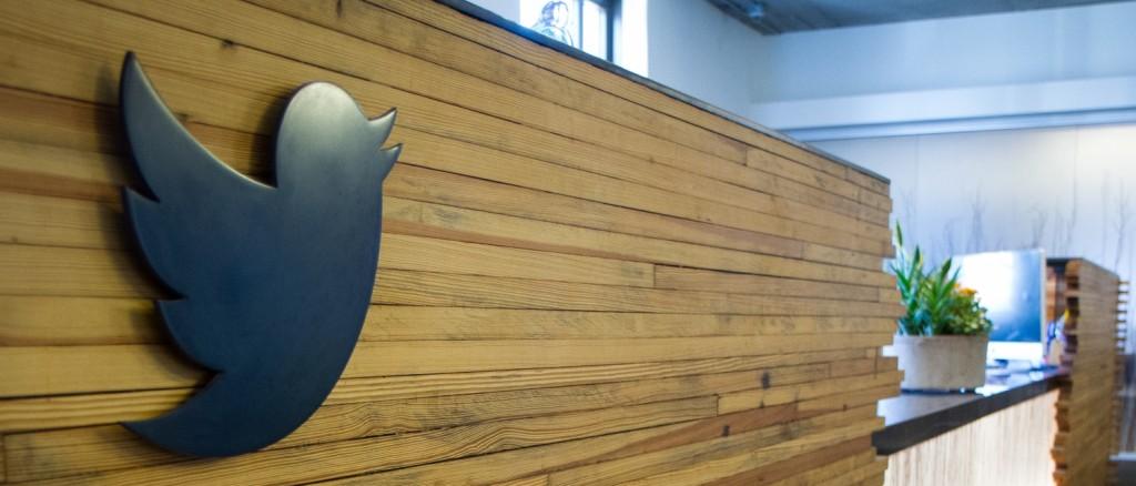 Twitter logo IRL office HQ