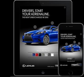 Amobee Lexus IS 3D Campaign Image[1]