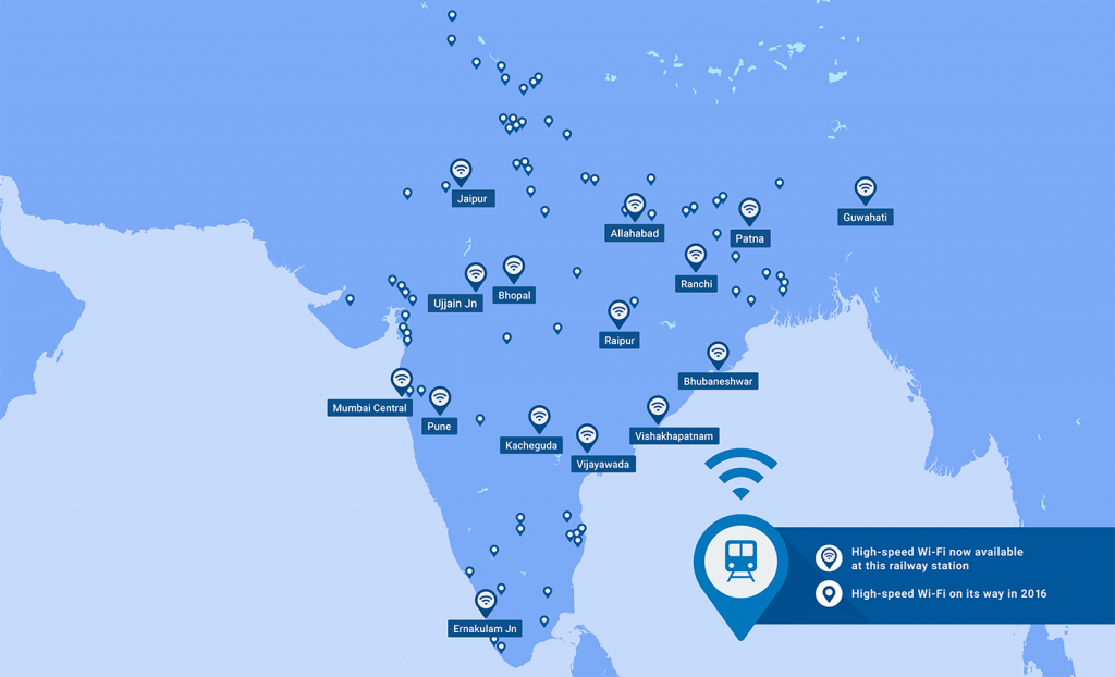 300,000 a Week Log In to Google's Free Wi-fi in Indian Stations