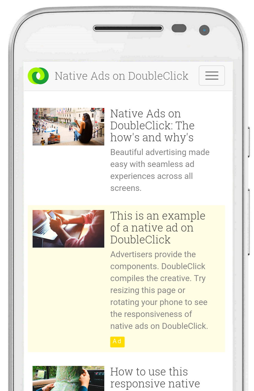 Google Brings Native Ads to DoubleClick Across Web and Apps