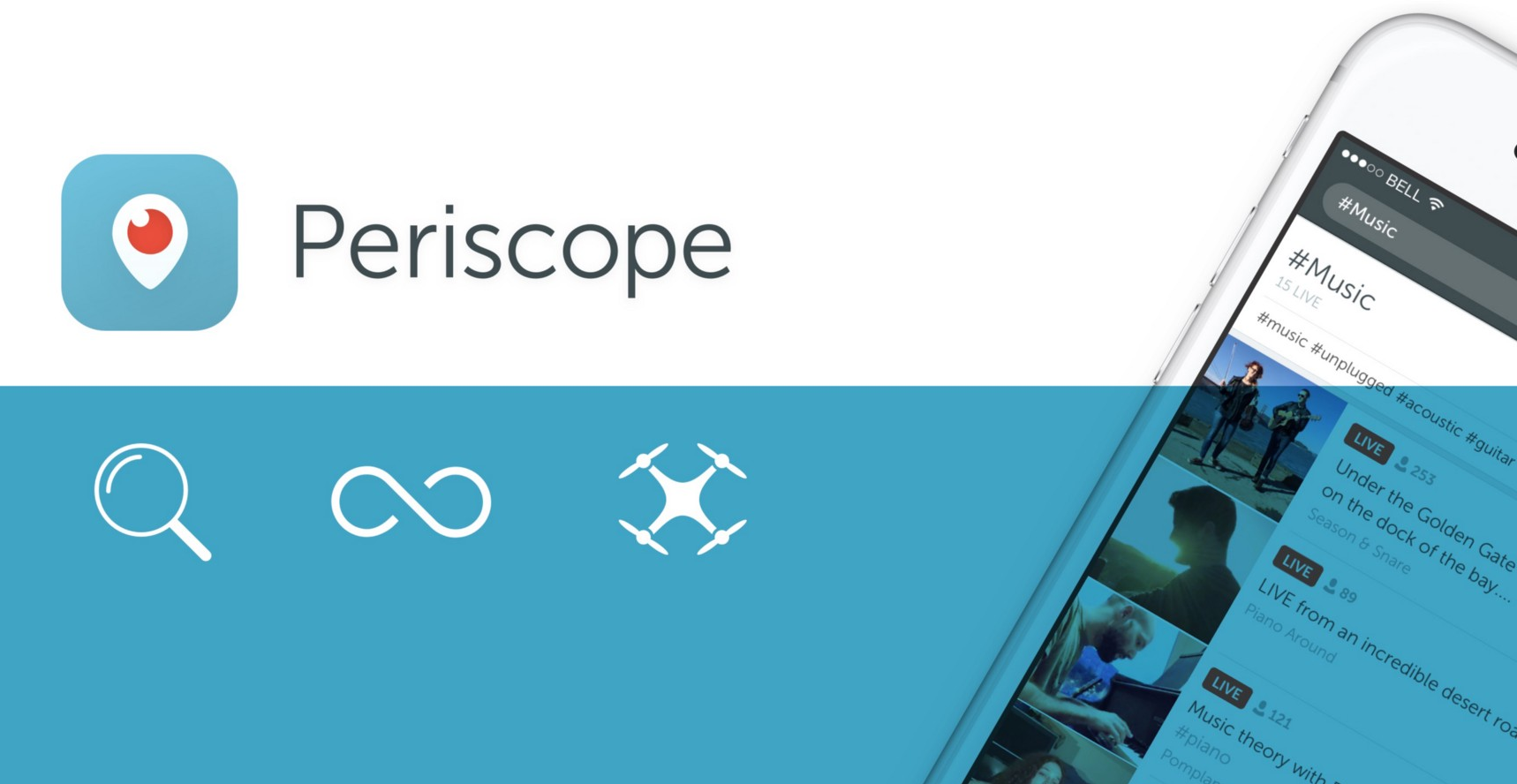Periscope Adds Permanent Streams, Hashtags and Drone Support