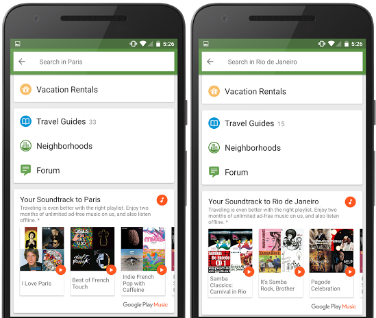 Google Play Music Lands on TripAdvisor with Free Trial Promo