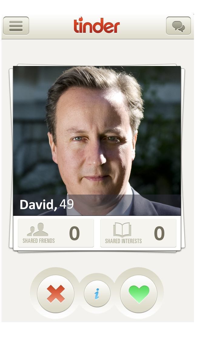David Cameron Joins Tinder in Bid to Encourage Young Voters