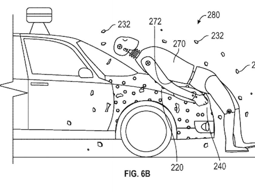 google sticky self-drive car