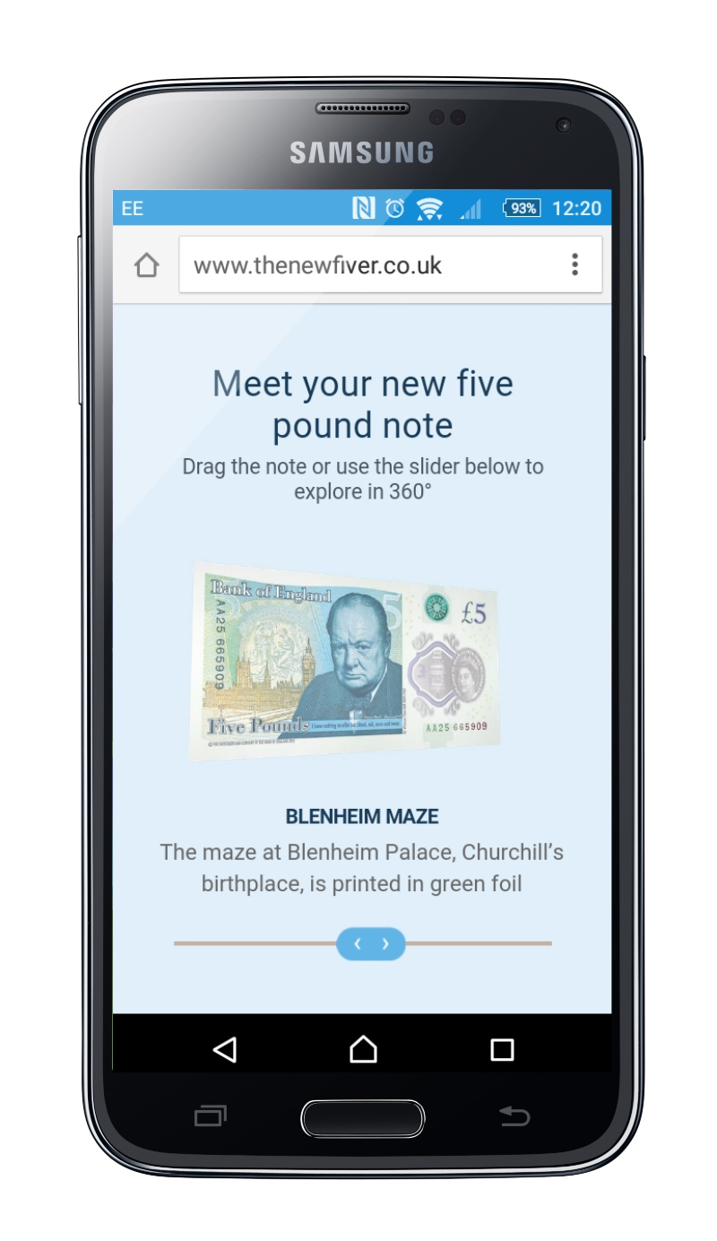 Bank of England Promotes New £5 Note with AR