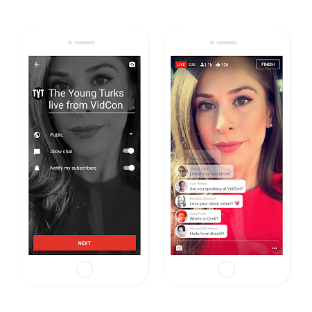 YouTube Integrates Live Streaming Tools into App