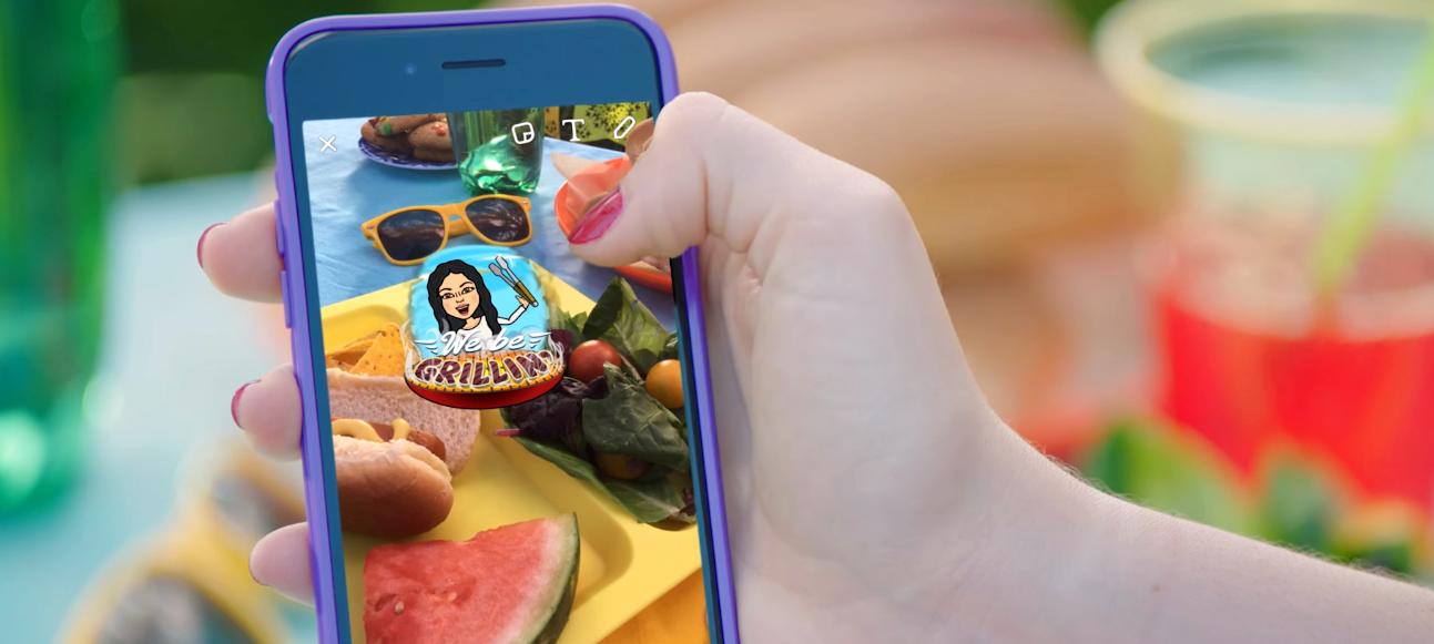 Snapchat Lets Users Send Custom Emoji with Bitmoji