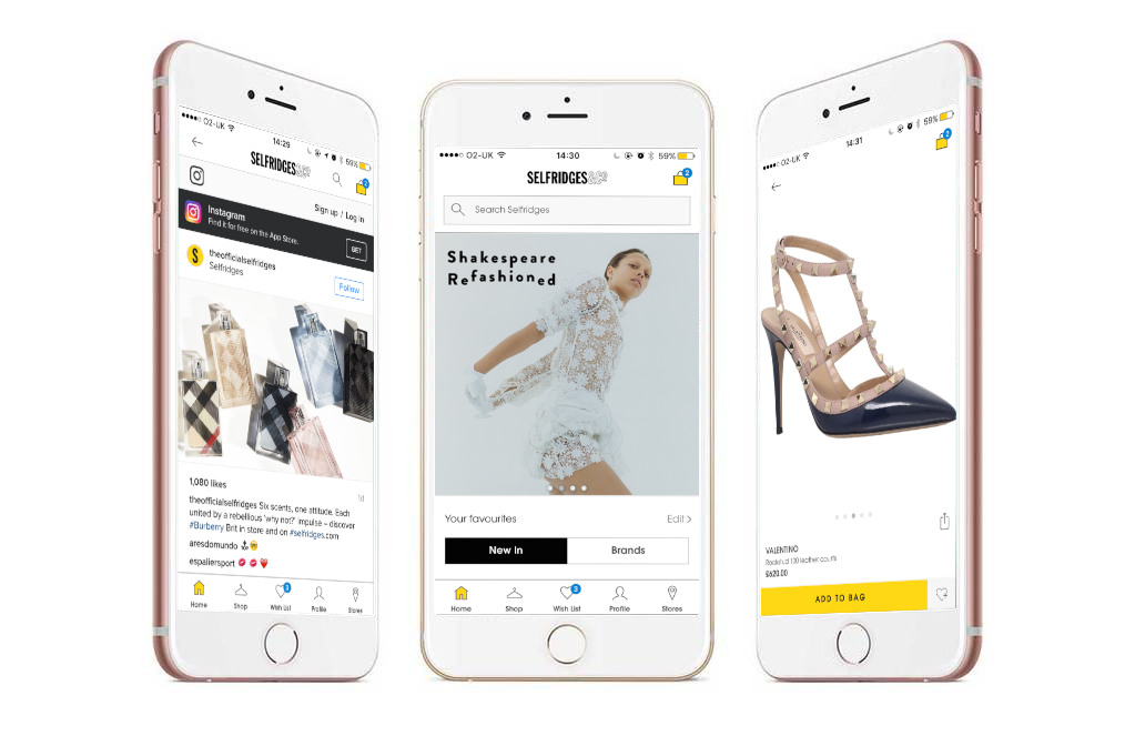 Selfridges Launches Social Shopping App