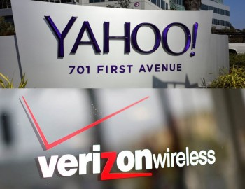 yahoo and verizon logo irl