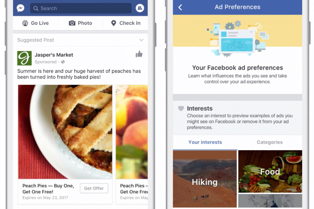 The new improved Ad Preferences tool, which Facebook claims solves the underlying issue behind ad blocking
