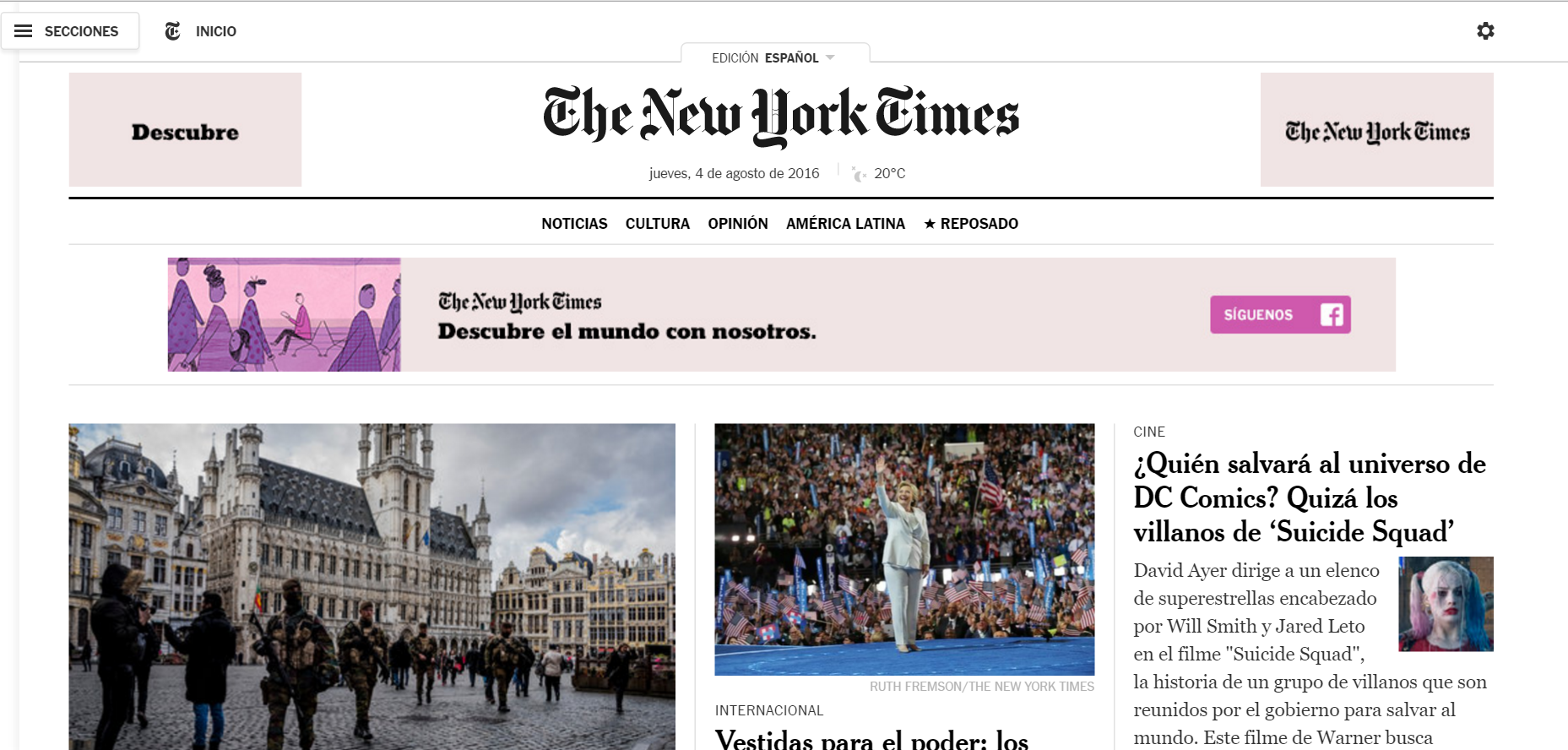 New York Times Launches Spanish Edition Android App