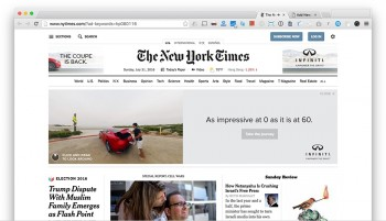 New York Times 360 VR ad