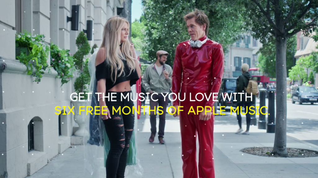 kevin bacon britney spears EE apple music deal