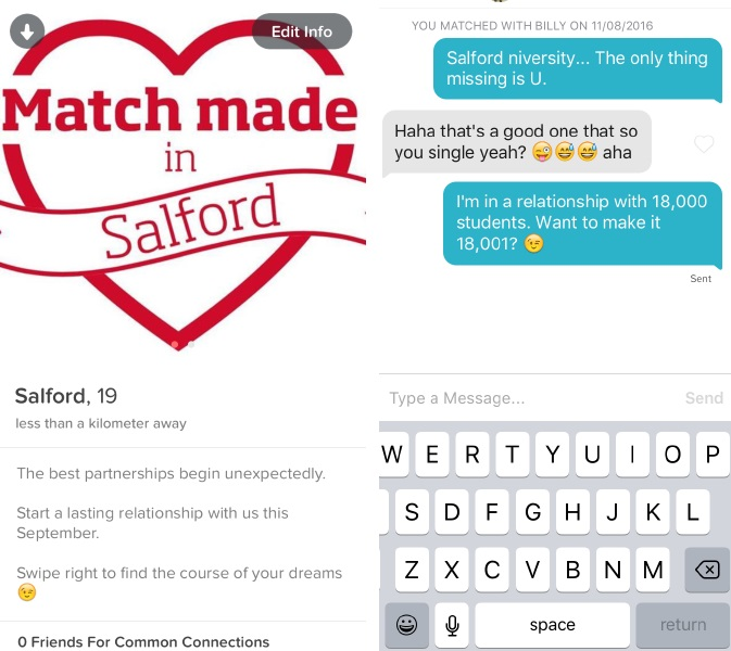 University of Salford Reaches Out to Potential Students Via Tinder