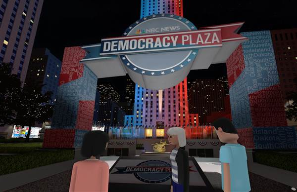 NBC Launches Virtual Democracy Plaza VR Experience