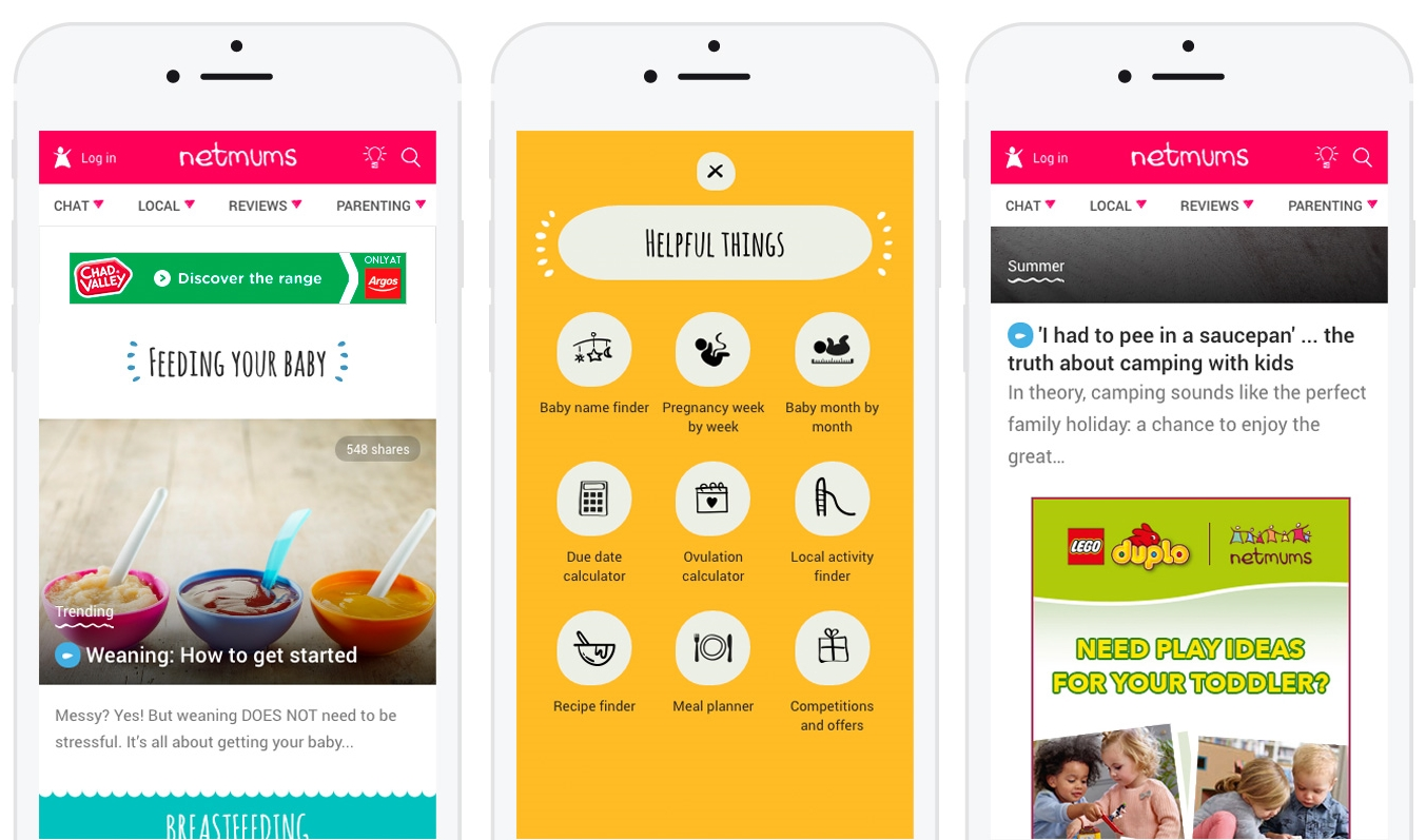 Netmums Gives Birth to Mobile-first Redesign