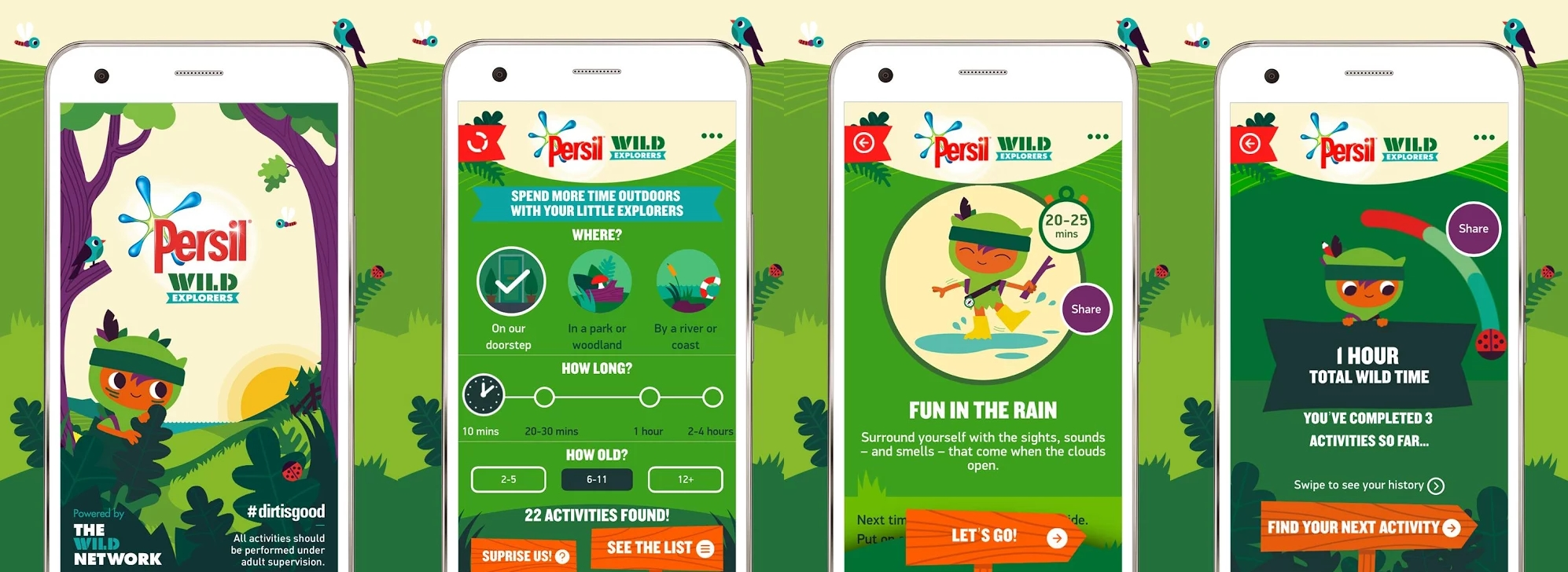 Persil Encourages Kids to Play Out with Wild Explorers App