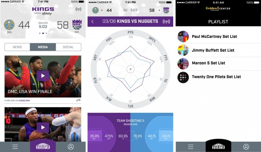 Sacramento Kings Reveal Arena App