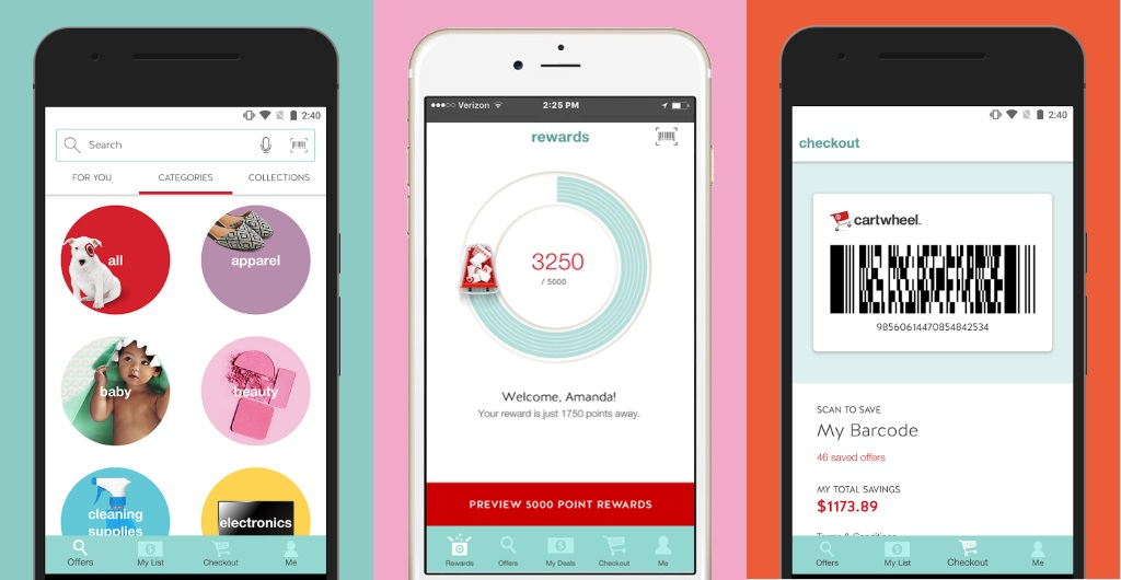 Target Introduces Rewards Scheme to Cartwheel App