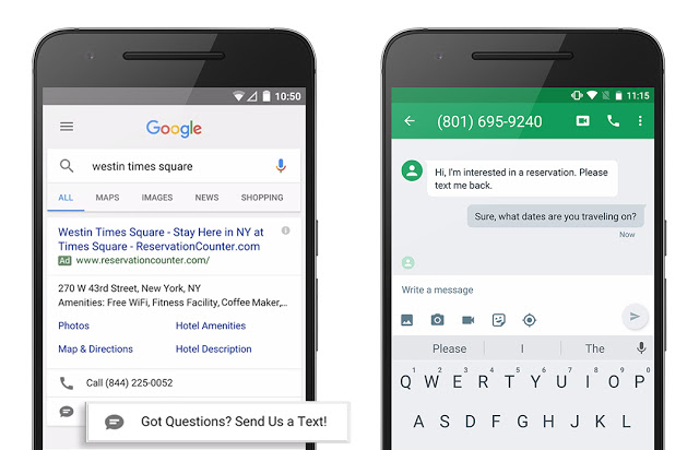 Google Unveils Click-to-message Ads
