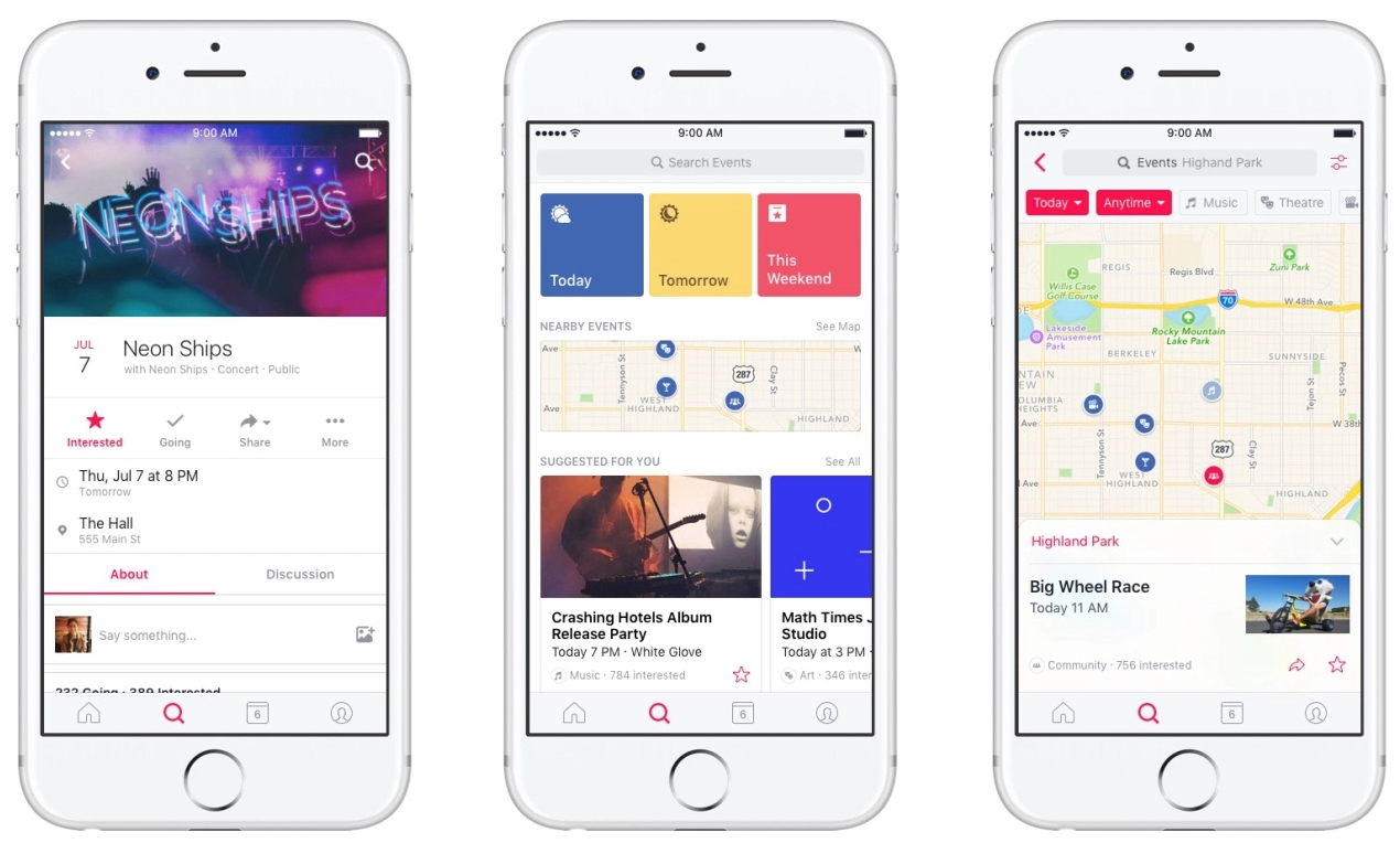 Facebook Events Go Solo with Standalone App