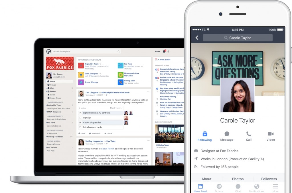 Facebook Launches New Platform on Workplace