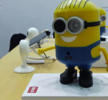 One of XiongMai's devices – a connected camera shaped like a Minion character from Despicable Me – on show at CES Shanghai