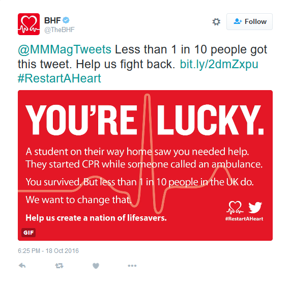 British Heart Foundation Builds Awareness with Unique Twitter Campaign