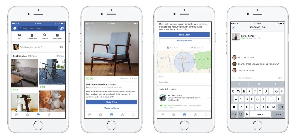 facebook introduces ebay competitor marketplace mobile marketing. Black Bedroom Furniture Sets. Home Design Ideas