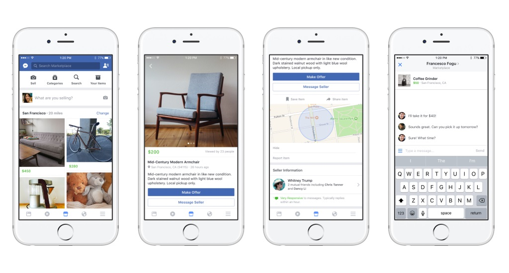 Facebook Introduces eBay Competitor Marketplace
