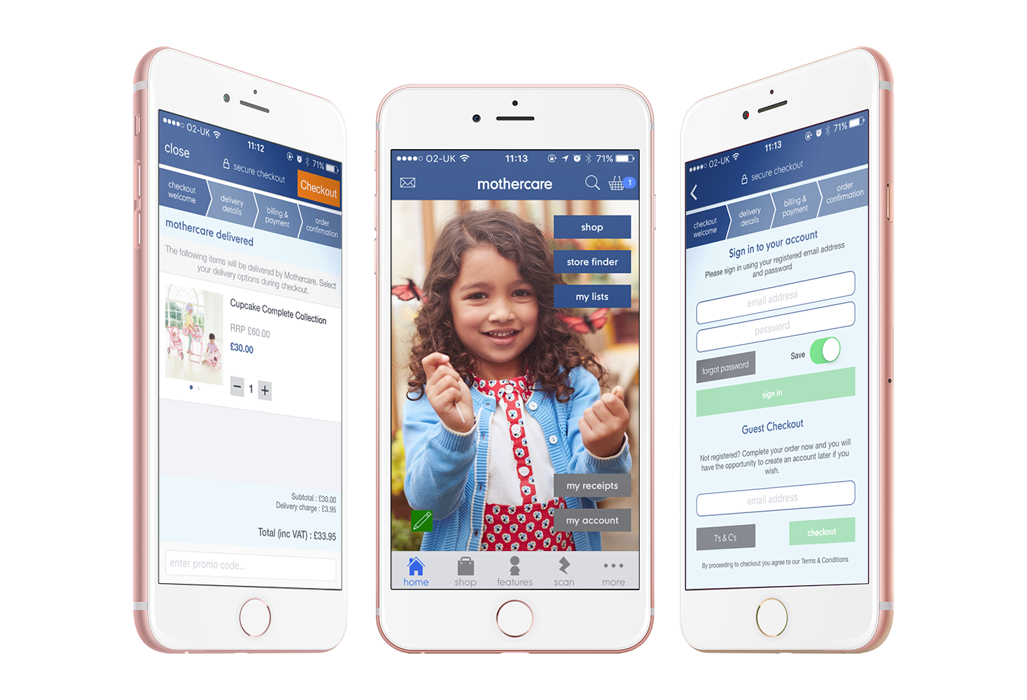 Mothercare Updates App with API-driven Checkout