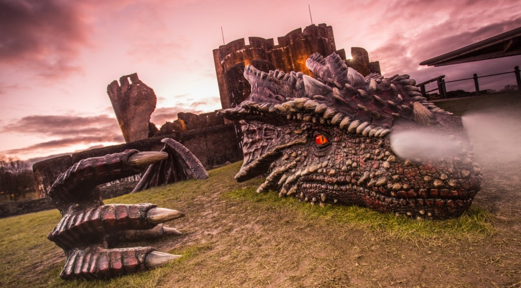 Welsh Government Deploys Beacons to 10 Castles – and One Dragon