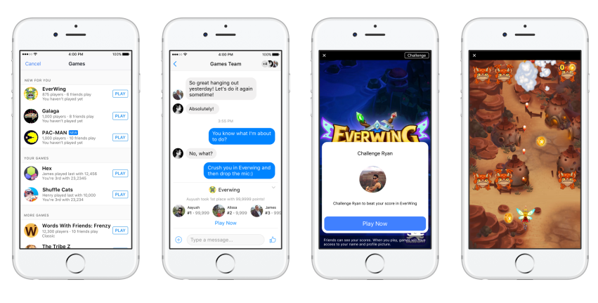 Facebook Launches Messenger Gaming Experience