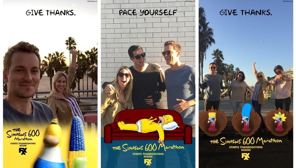 The Simpsons Celebrates 600 Episode Marathon with Snapchat Filter