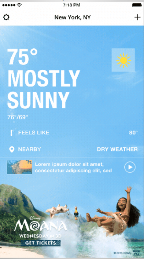 The Weather Company Launches Animated Branded Background Ad Solution