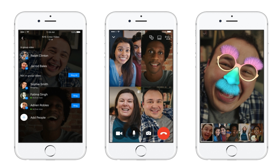 Facebook Introduces Group Video Chat Feature