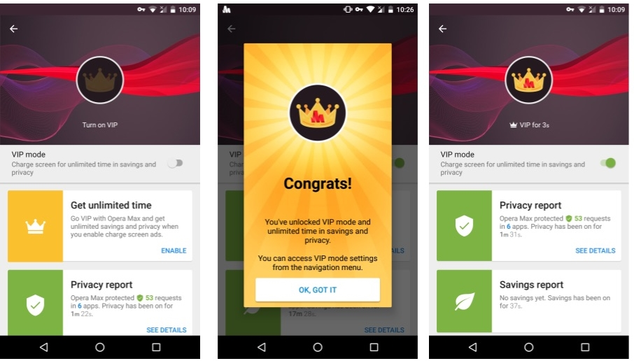Opera Max VPN Introduces VIP Mode, Supported by Lockscreen Ads