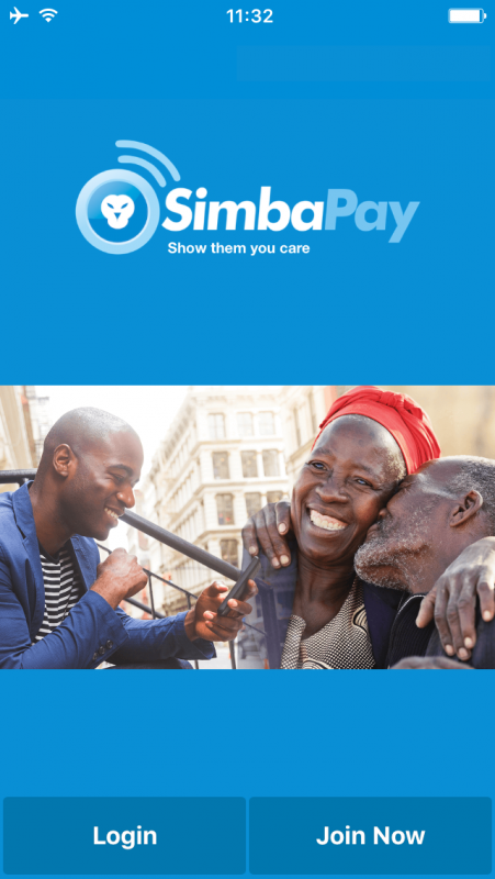 SimbaPay app screenshot