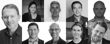 (Clockwise from left) Mark Stewart, Safiyya Riyadh, James Bennie, Clinton Liem, Michael Zagorsek, Brian Goldfarb, Richard Campion, Kris Wiig, Alson Kemp
