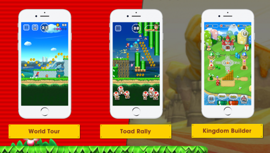 super mario run screens