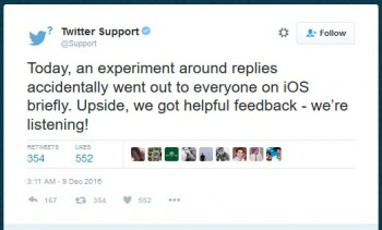 twitter reply experiment